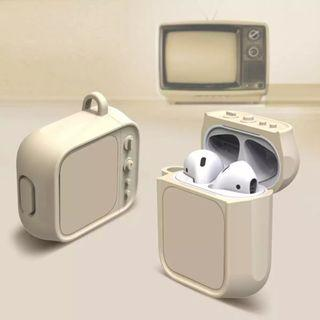 🚚 Retro design television sillicon airpods holder