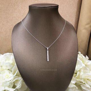 7 diamond dangling necklace