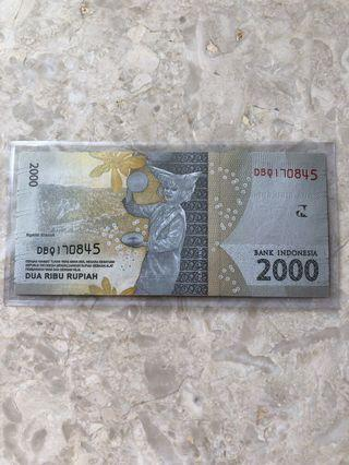 🎉Merdeka Sale🎉🇮🇩Indonesia Independence Serial Number🇮🇩Condition: UNC