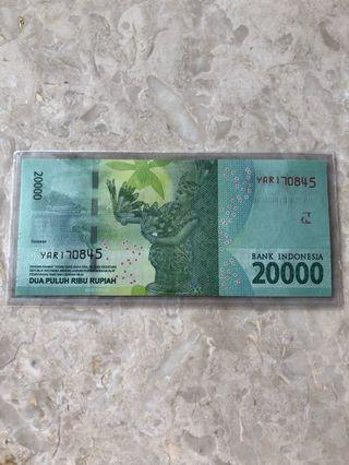 🚚 🎉Merdeka Sale🎉🇮🇩Indonesia Independence Serial Number🇮🇩Condition: UNC