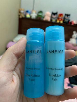 Laneige Skin Refiner Light and Emulsion Light 25ml