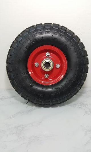 """10""""  4.10/3.50-4  風輪 輪胎 推車輪 台車輪 打氣輪胎 水泥車輪"""