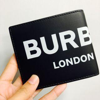 全新品 BURBERRY 新款設計 字母 男用對開短夾