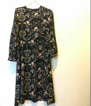 Flower Dress black