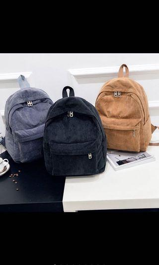 🚚 Korean Vintage Corduroy Bag / Backpack
