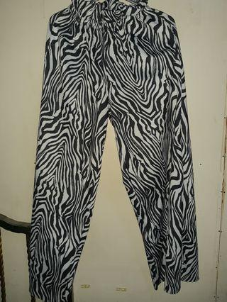 Celana Kulot zebra