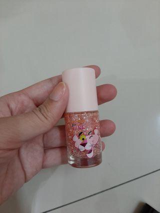 MINISO Pink Panther glitter nail polish