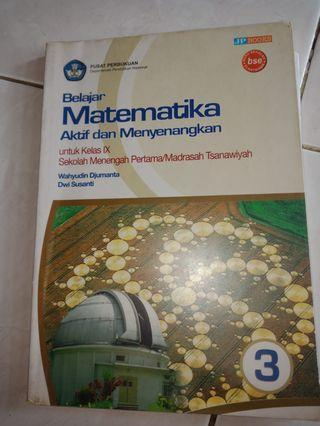 Belajar Matematika kelas 9 buku 3