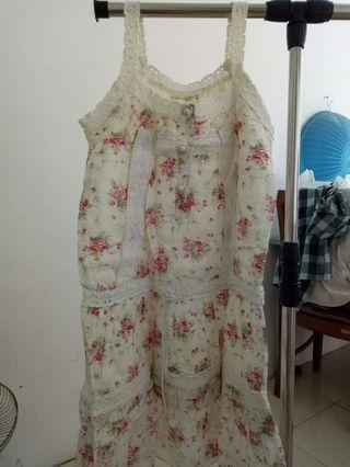 FLORAL DRESS WHITE