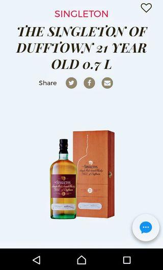 🚚 Singleton of Dufftown 21 year old