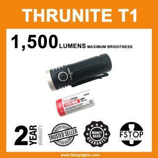 ★ ThruNite T1 1500 Lumens USB-Rechargeable Flashlight (Full Set)
