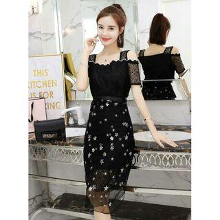 dress pesta korea D5MP59T2