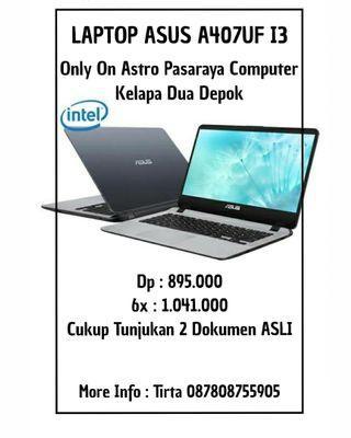 Laptop Asus A407UF i3 VGA Bisa Cicilan