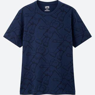 100% 全新 Men's UNIQLO KAWS: SUMMER UT Tee-Navy size M