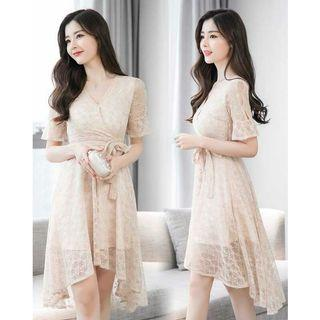 midi dress brukat korea D5MP57T5