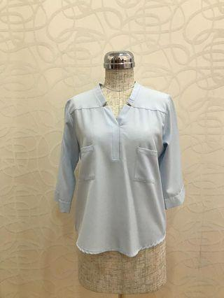 Blue Casual Blouse
