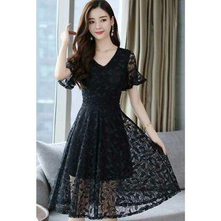 midi dress brukat korea D5MP57T4