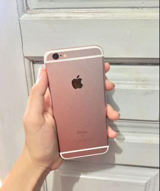 iphone 6s 32gb rosegold no minus sidik jari lancar
