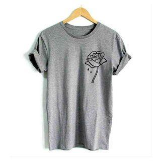 Rose Flower Prints Shirt
