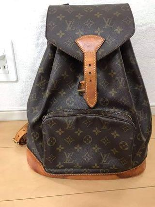 Authentic Louis Vuitton Montsouris GM Monogram Bagpack