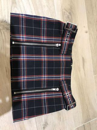 Moussy plaid skirt
