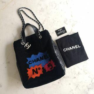 (Collector Series) Limited Edition Chanel Comic Shearling Tote
