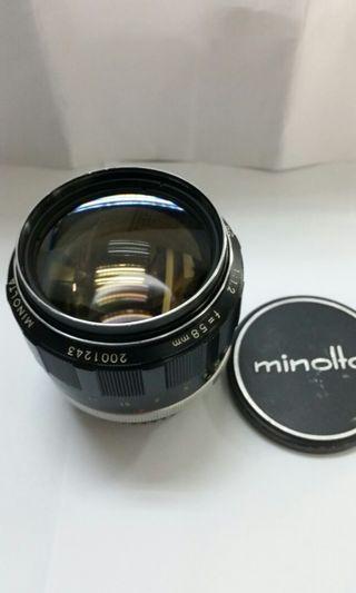 Minolta MC Rokkor 58mm f1.2...Gd working