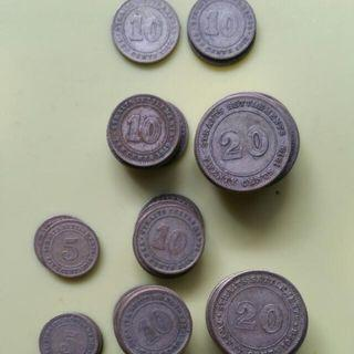5/10/20/50 Cents/Half Dollar Coins (1919-1927) British Colonial Straits Settlements KGV