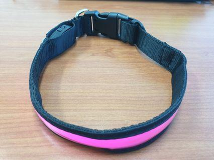 (AF183) USB Rechargeable LED Dog safety collar