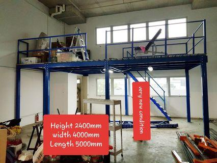 Mezzanine system H2.4m ×W4M ×L 5M  very new condition