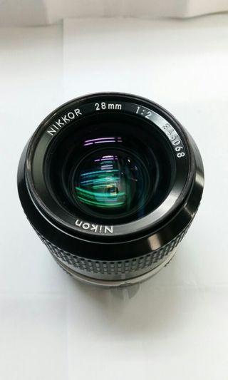Nikon 28mm f2 Mf....Pristine