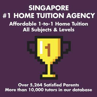 AFFORDABLE 1-to-1 Home Tuition Singapore: K1 K2 P1 P2 P3 P4 P5 P6 Sec 1 Sec 2 Sec 3 Sec 4 Sec 5 JC 1 JC 2 IP IB English Mathematics Science Chinese Malay Tamil Biology Chemistry Physics Economics GP POA Maths H1 H2