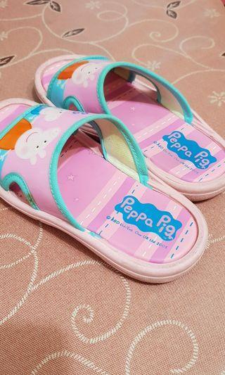 二手佩佩豬粉紅豬小妹兒童拖鞋 鞋號18