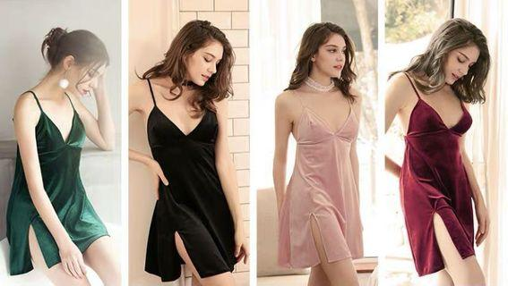 Promotion: clearance D022-Velvet elegant sleepwear / sleepdress/ lingerie / pajamas / sleep dress: