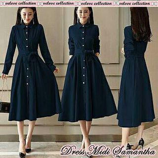vl dress midi samantha navy