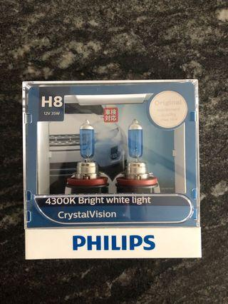 Philips Crystal Vision H8 Bulb