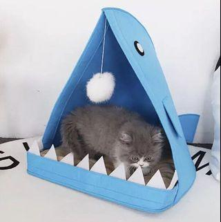 Pet Bed Cat Dog Bed Shark Mouth