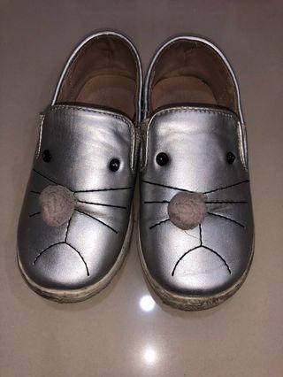 Pompom shoes (25) silver