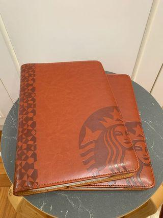 Starbucks collectibles item - leather case Notebook
