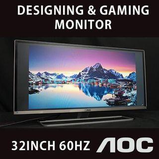 AOC 32 Inch IPS LED Gaming & Designing Monitor / 27 29