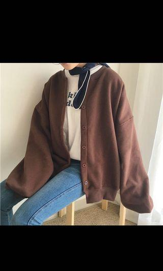 🚚 咖啡燈籠袖外套