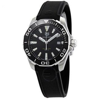 🚚 TAG Heuer Aquaracer Black Dial Rubber Watch WAY111A.FT6151