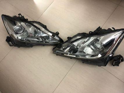 原廠Lexus IS250頭燈(一對)/原廠鬼面罩