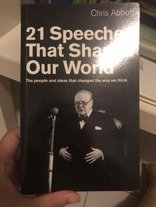 21 Speeches That Shaped Our World by Chris Abbot