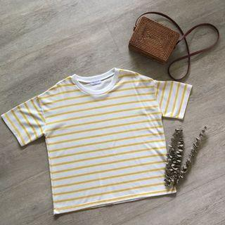 Jane Morion Striped Oversized Top