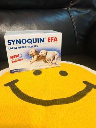 120粒 ~ VetPlus Synoquin® EFA 25公斤以上大型犬隻關節補充肉味粒裝