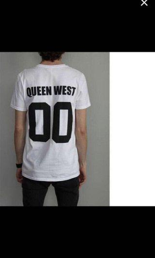 Brand New Queen West T-shirt size medium or large