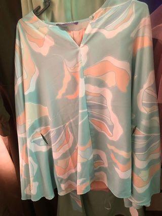 Poplook flowy blouse kurung
