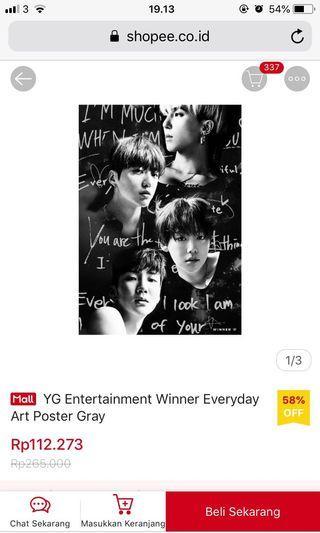 YG entertaiment Winner art photo poster
