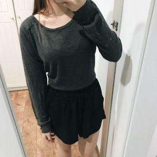 Colorbox Grey Cropped Sweater